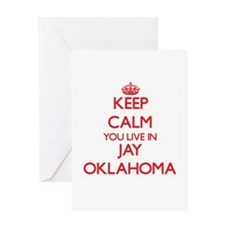Keep calm you live in Jay Oklahoma Greeting Cards