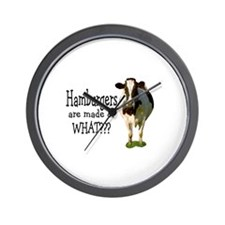 Hamburgers are made of what? Wall Clock