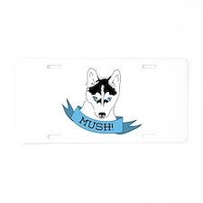 Mush Dog Aluminum License Plate