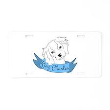 King Charles Spaniel Aluminum License Plate