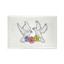 ROSES AND DOVES Magnets