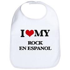 I Love My ROCK EN ESPANOL Bib