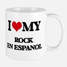I Love My ROCK EN ESPANOL Mugs