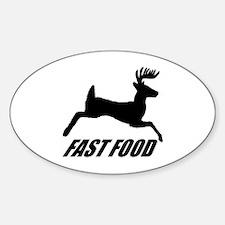 Fast food buck Sticker (Oval)