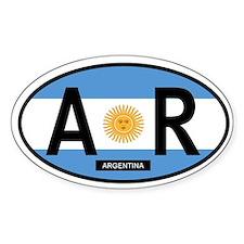 Argentina Full Flag (Oval)