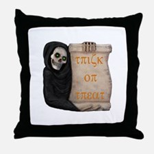 Ghoul Trick or Treat Throw Pillow