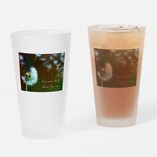 Dandelion 'Thinking About You' Drinking Glass