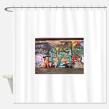 Street Graffiti Shower Curtain