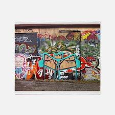 Street Graffiti Throw Blanket