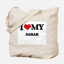 I Love My SABAR Tote Bag