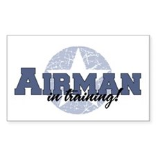 Airman in training Rectangle Decal