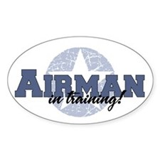 Airman in training Oval Decal