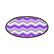 purple gray chevron Patches