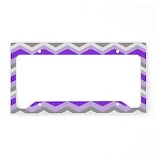 purple gray chevron License Plate Holder