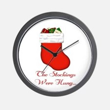 Stocking were Hung... Wall Clock