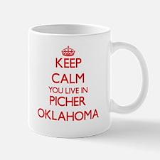 Keep calm you live in Picher Oklahoma Mugs