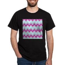 damask fuschia chevron T-Shirt