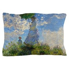 Woman with a Parasol Claude Monet Impressionist Pi