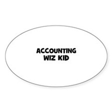 accounting Wiz Kid Oval Decal