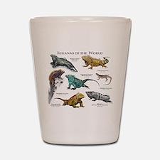 Iguanas of the World Shot Glass