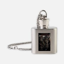 Horses with Carriage Flask Necklace