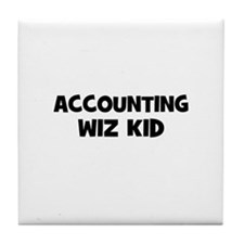 accounting Wiz Kid Tile Coaster