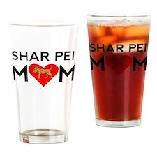 Shar Pei Mom Drinking Glass
