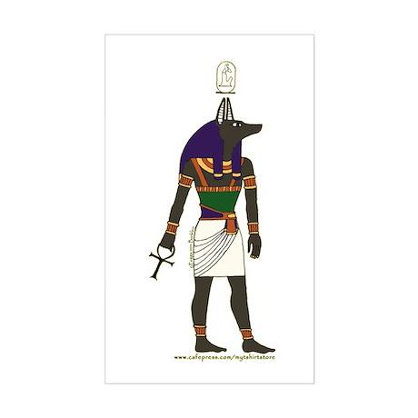 Anubis Hieroglyph Rectangle Sticker