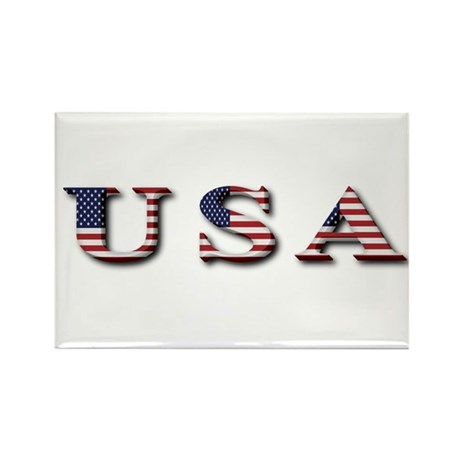 USA Rectangle Magnet (100 pack)