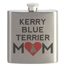 Kerry Blue Terrier Mom Flask