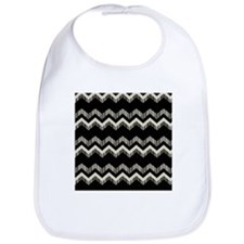 gray black chevron Bib