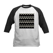 gray black chevron Baseball Jersey