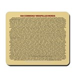 568 Commonly Misspelled Words mousepad