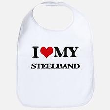 I Love My STEELBAND Bib