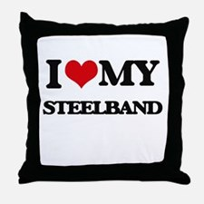 I Love My STEELBAND Throw Pillow
