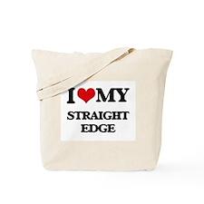 I Love My STRAIGHT EDGE Tote Bag
