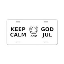 Keep Calm God Jul Aluminum License Plate