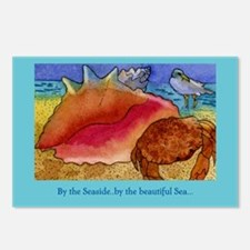 At the Beach-Gulls, Shells, C Postcards (Package o