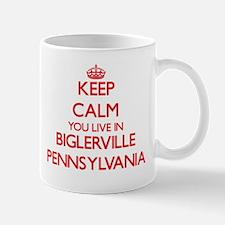 Keep calm you live in Biglerville Pennsylvani Mugs