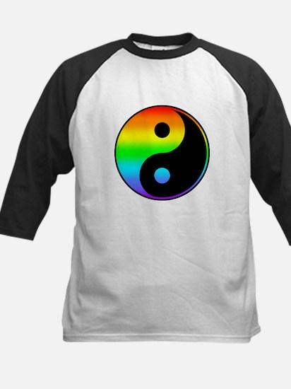 Rainbow Yin Yang Symbol Baseball Jersey