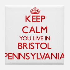Keep calm you live in Bristol Pennsyl Tile Coaster