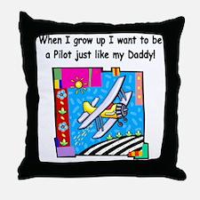 Airplane Pilot Daddy Throw Pillow