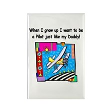Airplane Pilot Daddy Rectangle Magnet