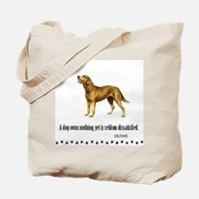 Chesapeake Bay Retriever Proverb Tote Bag