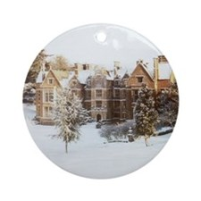 Wroxton Abbey Covered in Snow (ornament)