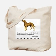 Chesapeake Bay Retriever Life Quote Tote Bag