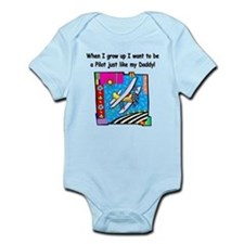 Airplane Pilot Daddy Infant Bodysuit