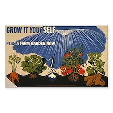 HOME GROWN vinyl sticker
