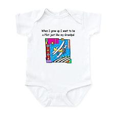 Airplane Pilot Grandpa Infant Bodysuit