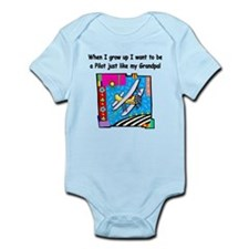 Airplane Pilot Grandpa Infant Bodysuit